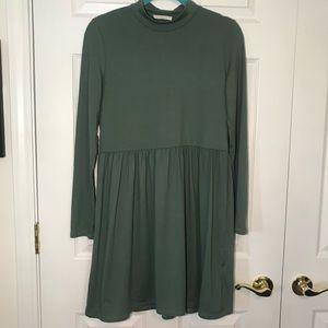 Entro Olive Green Empire Waist Dress